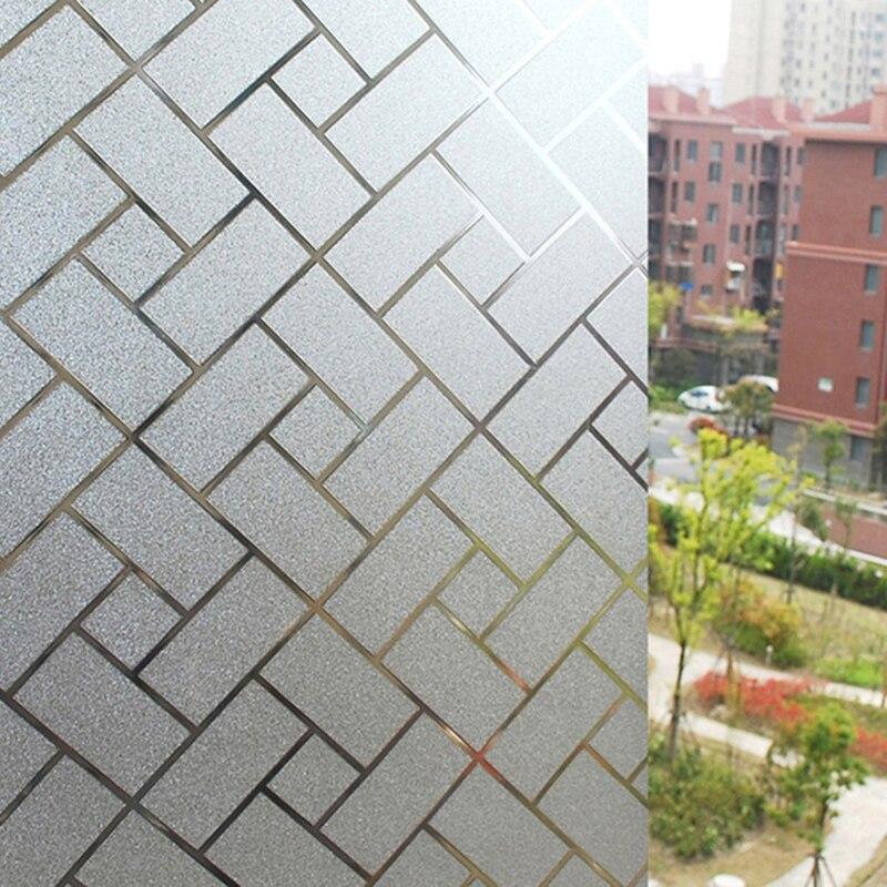 Nieuwe 45 * 200 cm Bricks Patroon Statische zelfklevende Raamsticker - Huisdecoratie