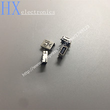 Free shipping 10PCS Micro USB connector 5pin seat Jack Micro usb Four legs 5P Inserting plate seat Mini usb connector