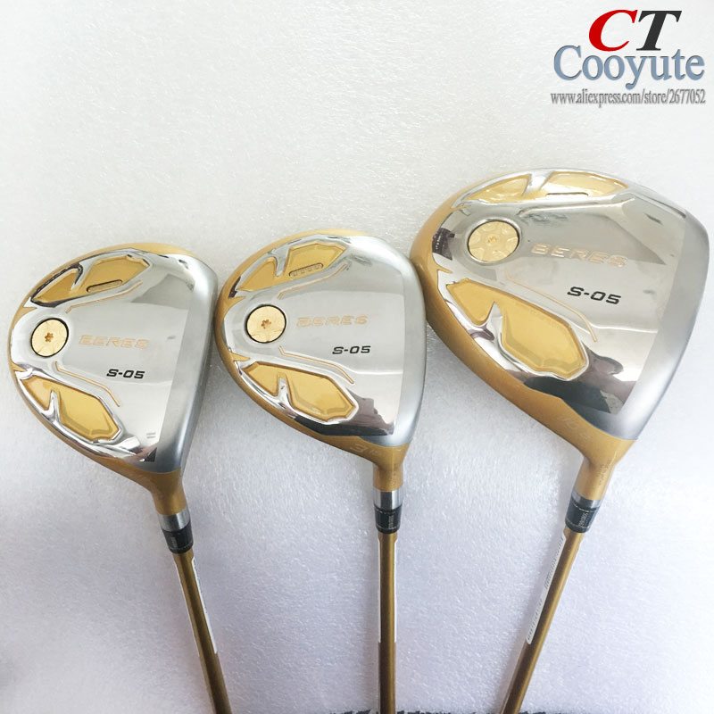 Cooyute New Golf Clubs HONMA S-05 4Star Golf wood Set driver+Fairway Woods Graphite Golf shaft wood headcover Free shipping womens golf clubs maruman rz complete clubs set driver fairway wood irons graphite golf shaft and cover no ball packs