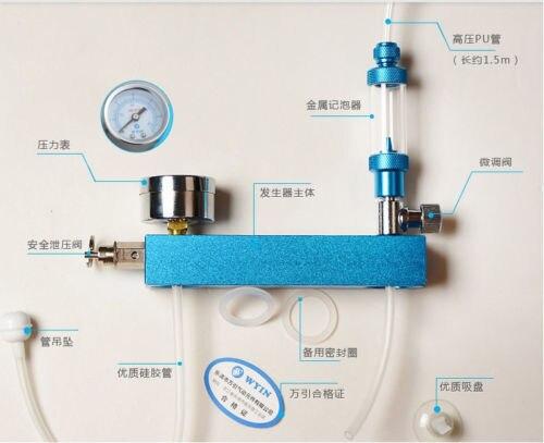 WYIN DIY acuario plantado tanque CO2 sistema generador de pro kit + burbuja + Válvula de seguridad - 2