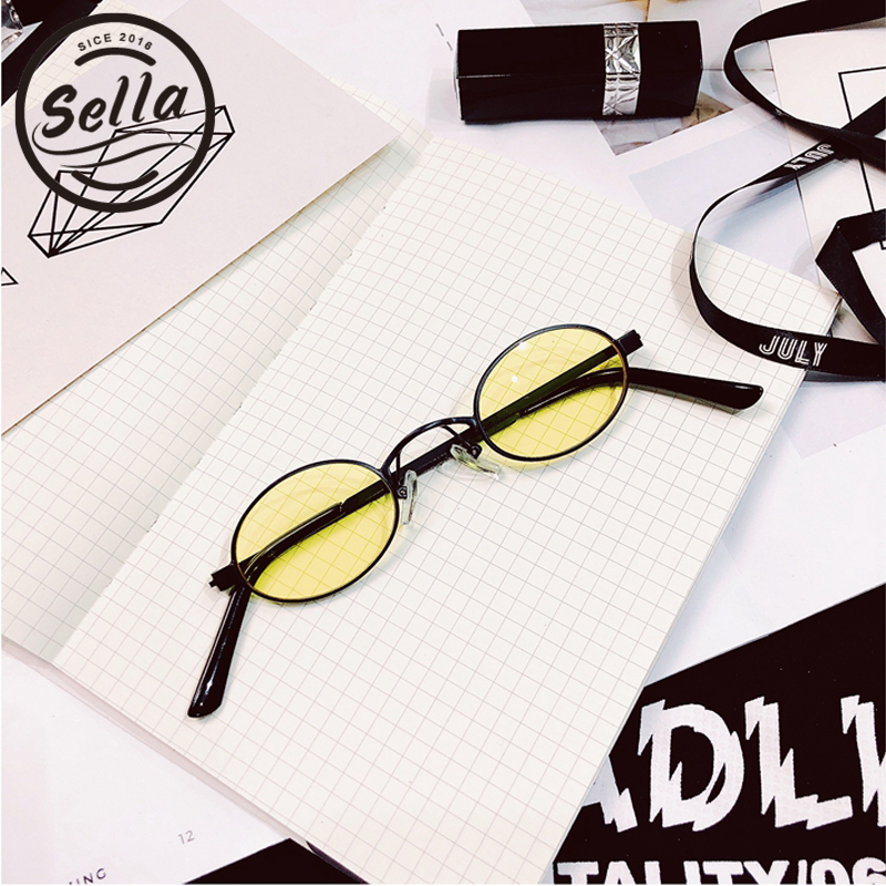 7fde5e0fbb Sella 2018 New Classic Retro Fashion Small Oval Alloy Frame Sunglasses  Popular Men Women Round Tint Lens Sun Glasses Eyewear-in Sunglasses from  Men s ...
