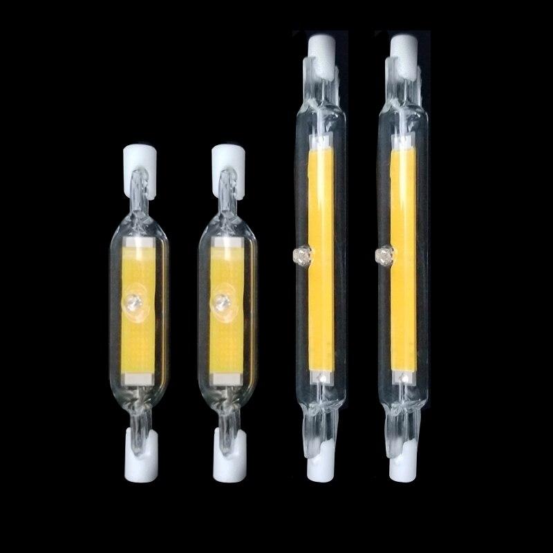 Dimmable J78 R7s 15W 78mm Led Light Bulbs J118 R7s Led Cob 30W 118mm Lamp Bulb AC220-240V Replace Halogen Lamp