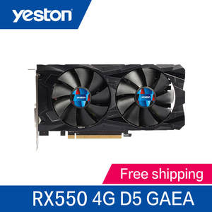 Yeston RX550 4 GB GDDR5 PCI 3.0 DirectX12 video gaming graphics card external graphics