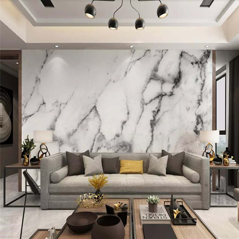 beibehang Custom wallpaper mural jazz white marble wall papers home decor  papel de parede wall paper wallpapers for living room Wallpapers  -  AliExpress