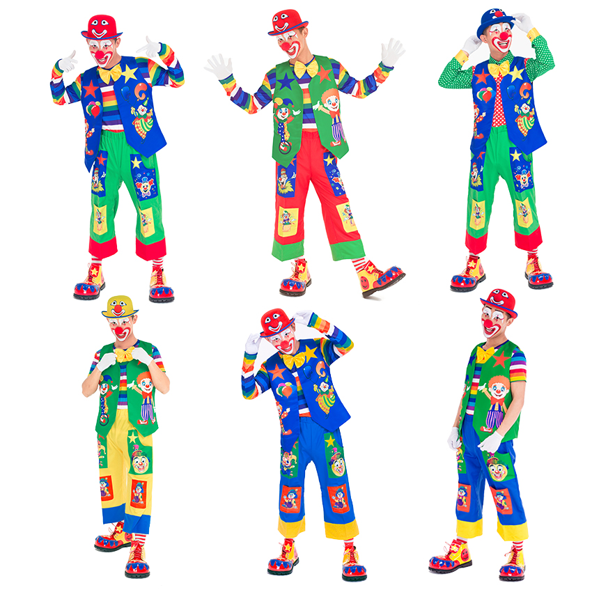 16 styles high quality clown costumes for adults festival cosplay halloween party clothing clown suit for