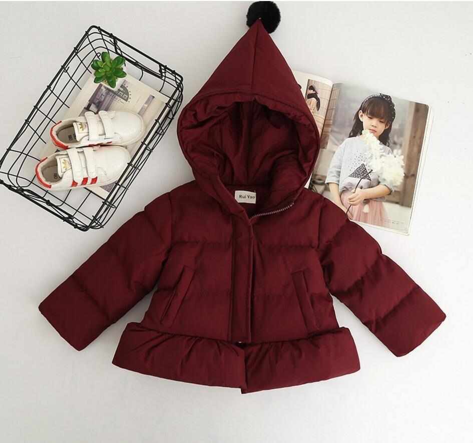Fille printemps veste rouge à capuche enfants veste pour vêtements d'extérieur fille hiver bébé tenue parkas enfants boutiques vêtements ver - 2