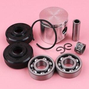 Image 4 - Anillo de perno de pistón de 38mm, Kit de sello de aceite de rodamiento de agujas para piezas de motosierra Husqvarna 136 137
