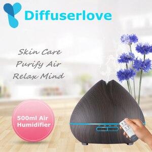 Image 1 - Diffuseur 500ml humidificateur dair arôme diffuseur dhuile essentielle aromathérapie Hmidificador 7 LED qui change de couleur veilleuse