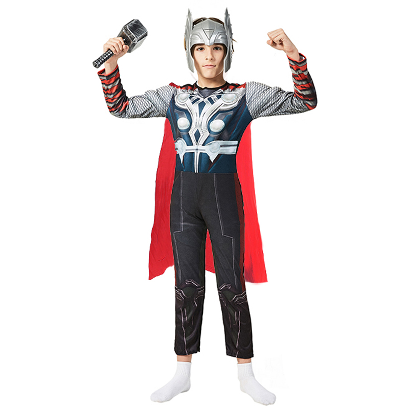 Super Low Price With Nice Quality Child Boys Superhero Avengers Thor Muscle Halloween Cosplay Carnival Fancy Dress Party Costume