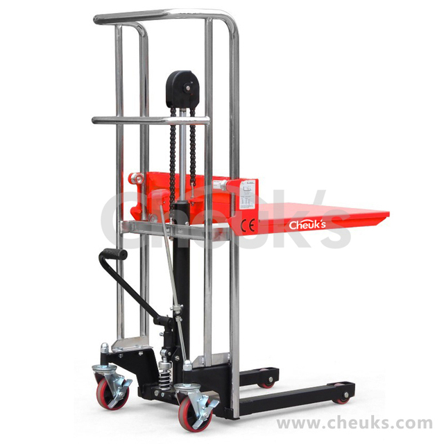 Manual Hydraulic Lift : Kg pallet stacker hydraulic manual hand