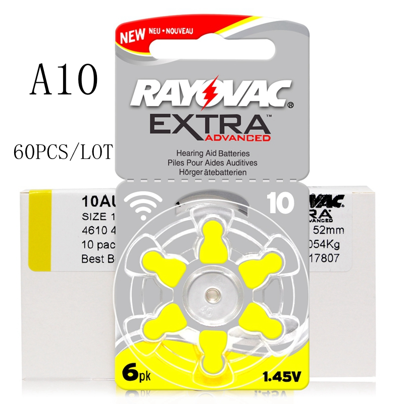 60 PCS Zinc Air Rayovac Extra Performance Hearing Aid Batteries A10 10A 10 PR70 Hearing Aid Battery A10 Free Shipping60 PCS Zinc Air Rayovac Extra Performance Hearing Aid Batteries A10 10A 10 PR70 Hearing Aid Battery A10 Free Shipping