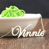Silver Pendant Silver Necklaces 925 Solid Name Necklaces Customized Nameplate Jewelry Wife Gift Personalized