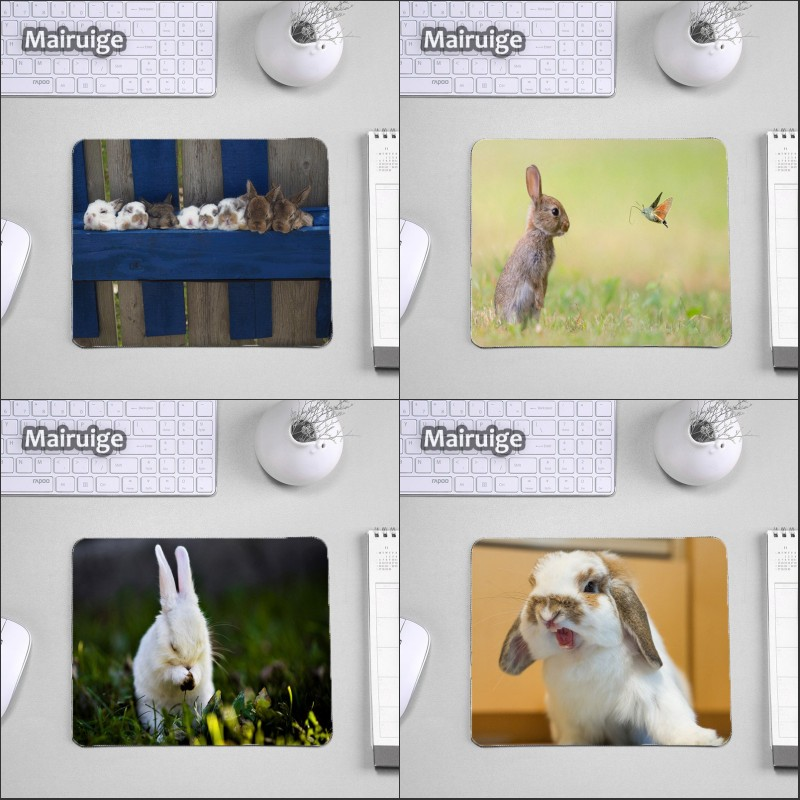 Mairuige So Cute Rabbits Computer Game Mousepad Animal Pets Cat Dog Pattern Printed Diy  ...
