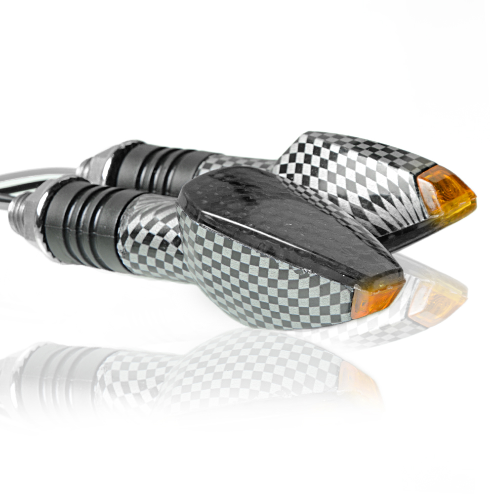 Image 2 - Motorcycle LED Turn Signal Indicators Light Motorbike Amber Light Lamp For Honda XL600 LMF CBF1000/A VT 750s VTX1300 NSR250