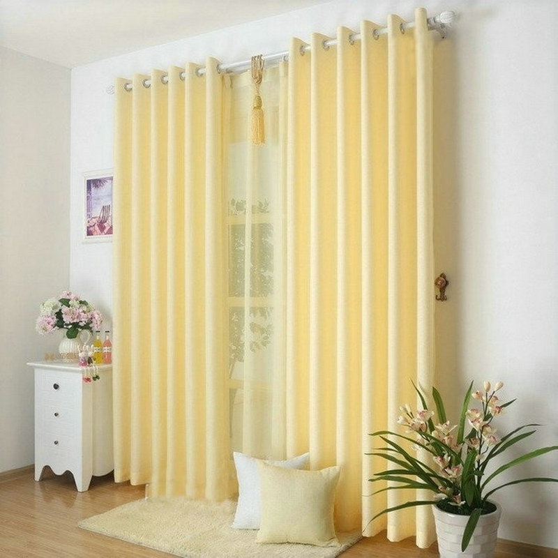Aliexpress.com : Buy New Arrival Solid Color Curtains For Living Room Plain  Curtains+Voile 9 Colors Grey/Burgundy/Yellow/Violet/White Shade/Drapery  From ...
