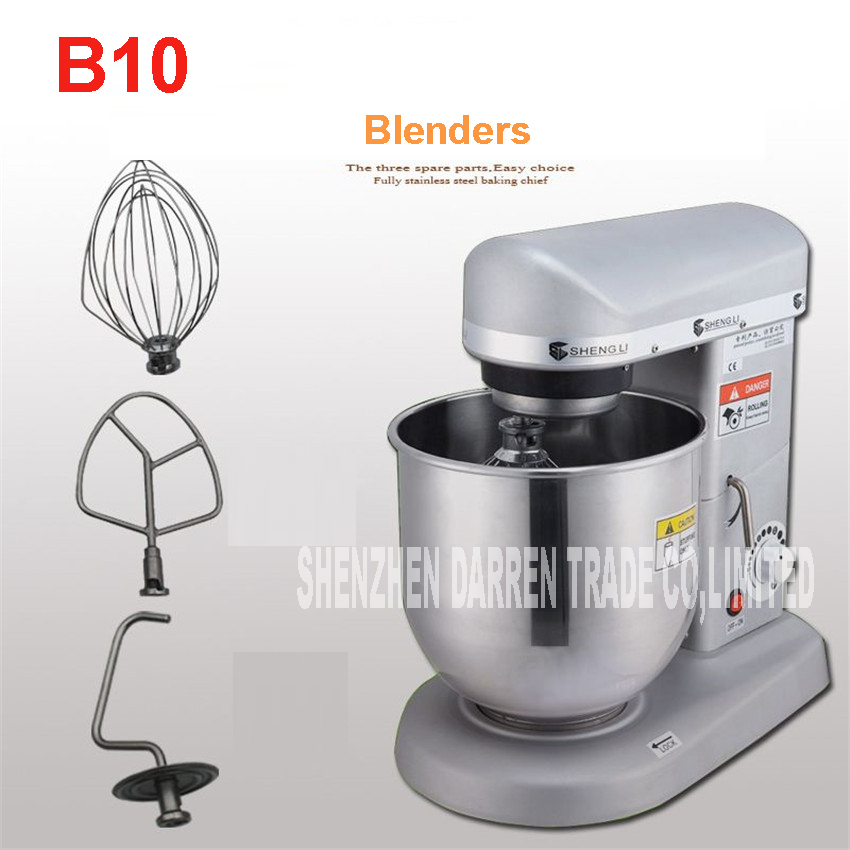 B10 Home use 10 Liters electric stand food mixer, planetary mixer, egg beater, dough mixer machine 60-1000R/MIN Stainless steel 7l high quality commercial planetary mixer food stand mixer egg beater dough mixer