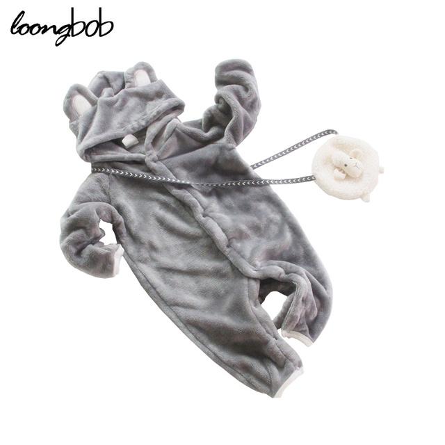 1 unid Bebé Recién Nacido Ropa de Bebé de La Muchacha Traje de Niño Recién Nacido mamelucos de Lana de Manga Larga Trajes de Dibujos Animados Con el Sombrero de La Muchacha vestido