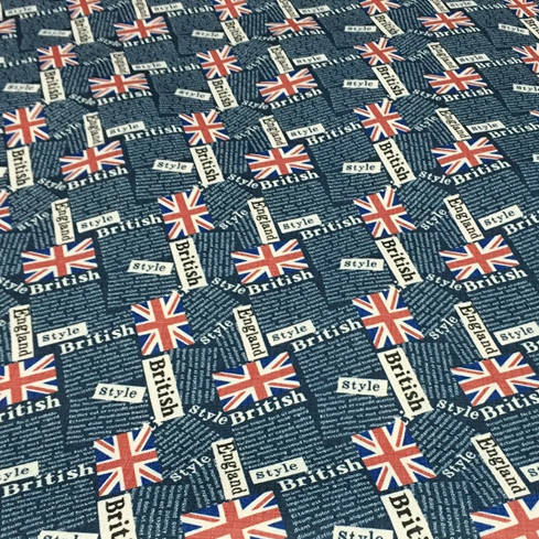 100x140cm Union Jack Uk Flag Patchwork Fabric For Sewing Sofa