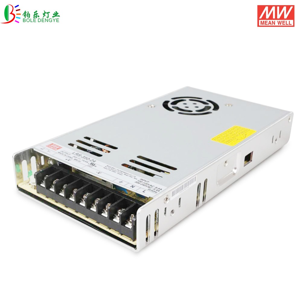 Meanwell Power Supply DC24V 350W 14.6A  LRS 350 24 Indoor Use Taiwan Original Mean Well Lighting Transformer Switch AC85 265V-in Switching Power Supply from Home Improvement    1