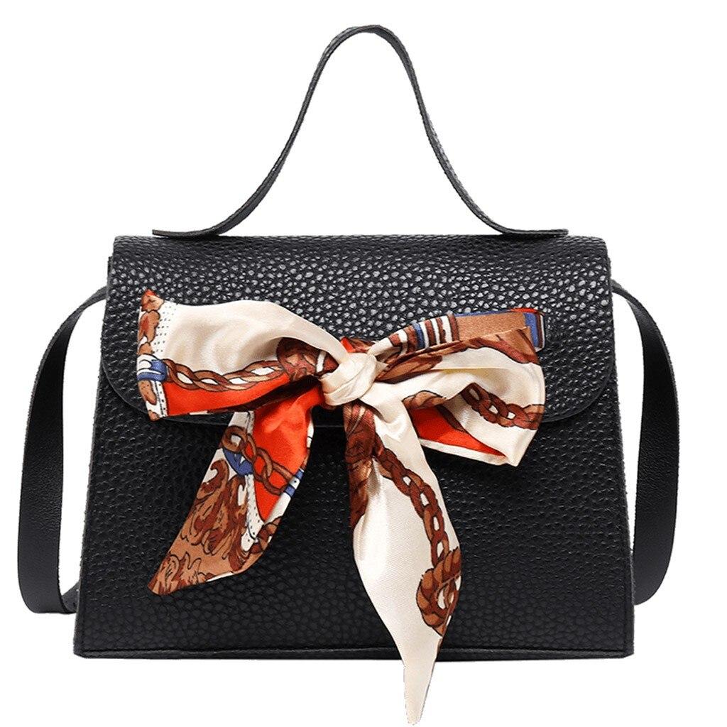 Woman's Handbag Shoulder Fashion Crossbody Lady Shoulders Small Scarf Bag Cover Buckle Letter Purse Mobile Messenger Bag 2019