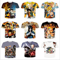 ISTider Brand Clothing Men's 3D Print T shirt Anime Naruto/One Piece/ONE PUNCH MAN/Super Saiyan Hip Hop Casual Tee Shirt Homme