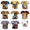 ISTider Roupas de Marca Dos Homens de Impressão 3D camiseta Anime Naruto/One Piece/ONE HOMEM SOCO/Super Saiyan Hip Hop Casual Camiseta Homme