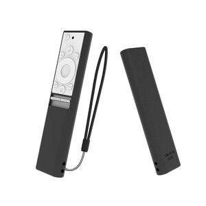 Image 2 - Capas para controle remoto de silicone BN59 01270A BN59 01265A, para samsung qled smart tv capas de proteção à prova de choque
