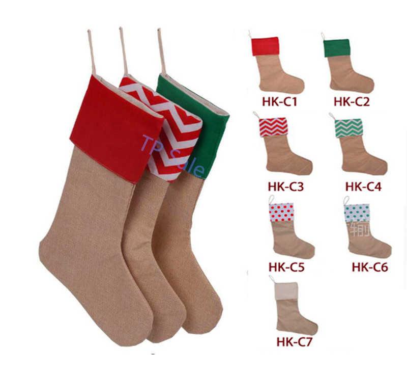 2017 Горячие Рождество большой чулок Санта Клаус носок Подарочная сумка дети Xmas украшения мешок для конфет Рождество дерево украшения поставщиков