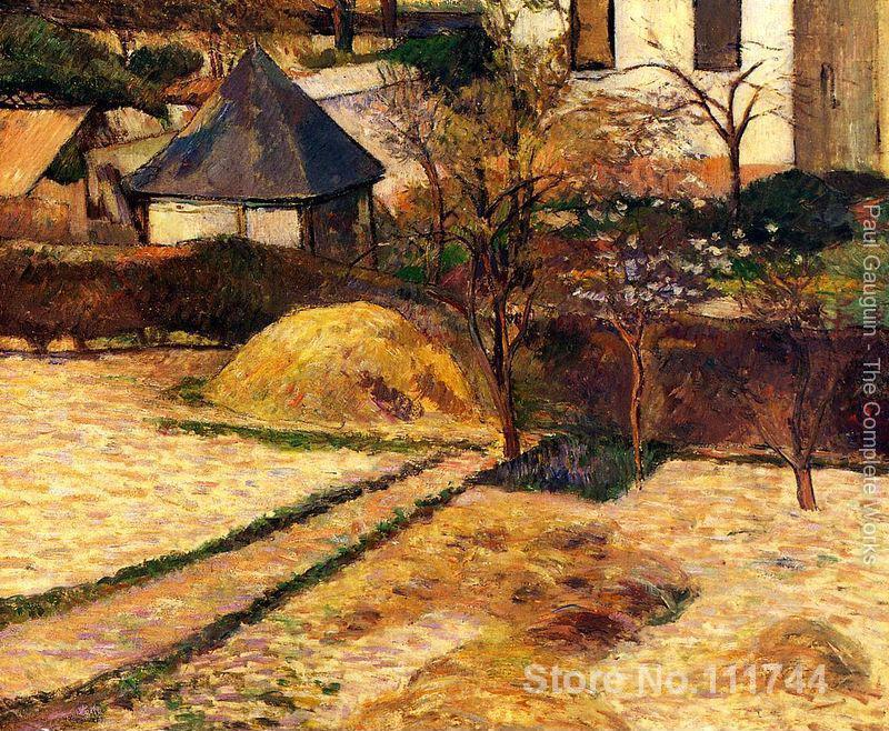 Garden View Rouen Paul Gauguin famous paintings oil canvas