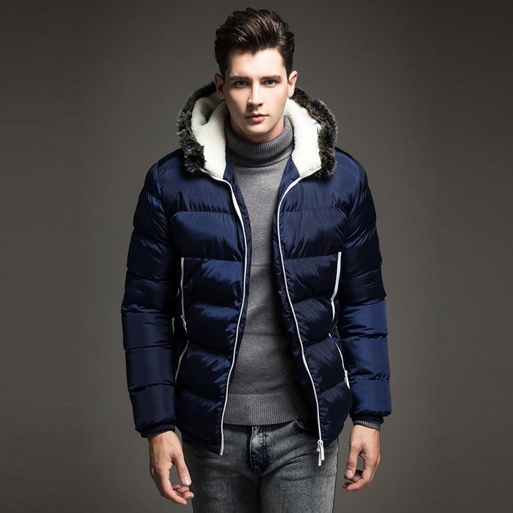 2017 Men down jacket Winter Thick Warm Fashion Patchwork ...