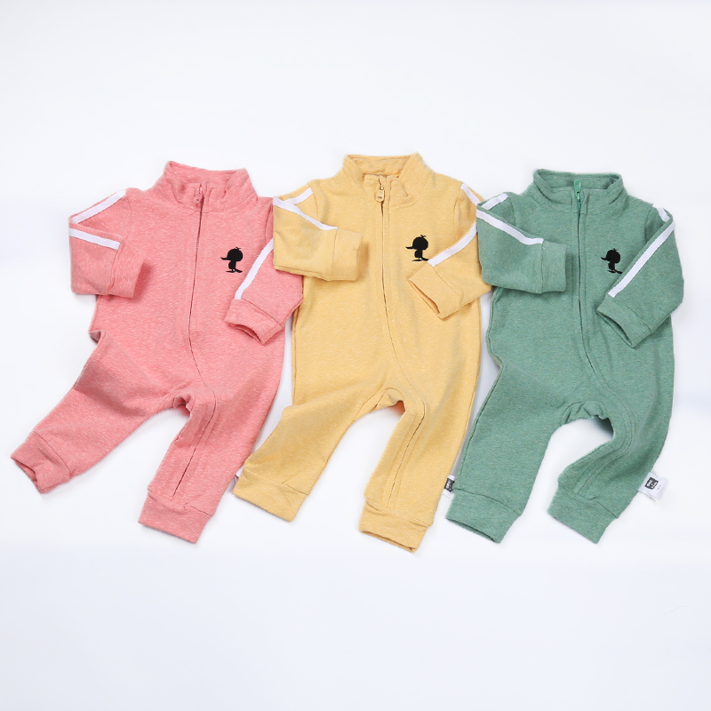 Baby Girls letter Design zipper Cotton Long Sleeve Track Suit Toddler Boys Romper Sports Jumpsuit Outfit Infant Newborn Clothing newborn baby girls rompers 100% cotton long sleeve angel wings leisure body suit clothing toddler jumpsuit infant boys clothes