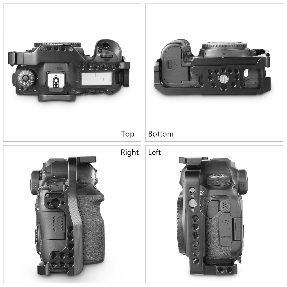SmallRig DSLR Camera Cage For Canon 6D Mark II Form Fitting Cage With Built-In Arca Swiss Quick Release Plate 2142