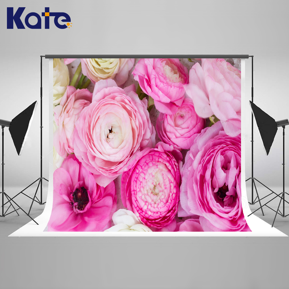 Kate Flower Wall  Backdrop Spring Photography Backdrops Romantic Wedding Seamless Photo For Studio Custom wholesale seamless wedding wall nail strengthen invisible traceless photo hanging hook painting