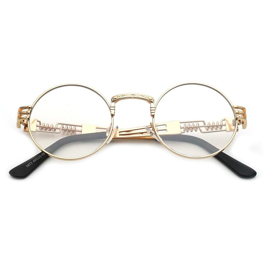 6150fa54eb KOTTDO 2017 mujeres de los hombres con la mitad de Metal gafas de aleación  de rayas