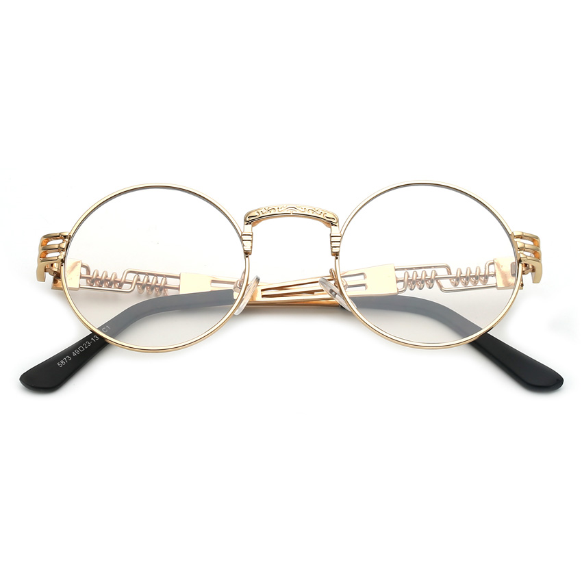 Peekaboo clear fashion gold round frames eyeglasses for women peekaboo clear fashion gold round frames eyeglasses for women vintage steampunk round glasses frames for men male nerd metal in eyewear frames from womens thecheapjerseys Image collections
