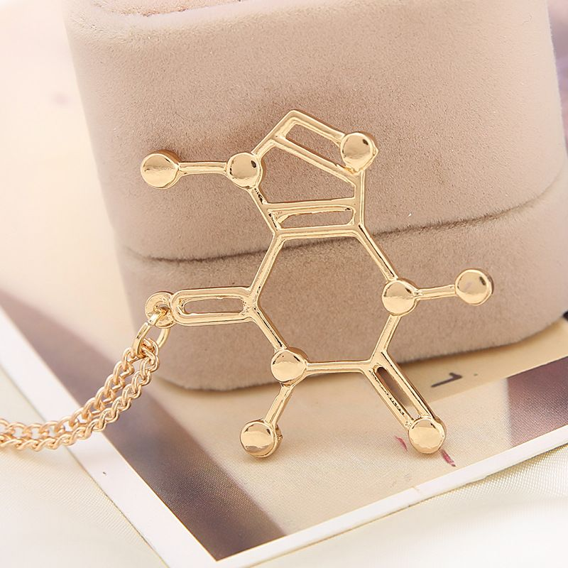 Wholesale chemical structure of molecules love necklace font b science b font students Necklace Pendants Statement