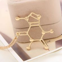 Wholesale chemical structure of molecules love necklace font b science b font students Necklace Pendants Statement