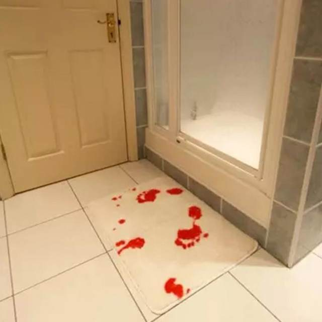Online Shop Creative Blood Footprints Bath Mat Horror Rug Toilet ...