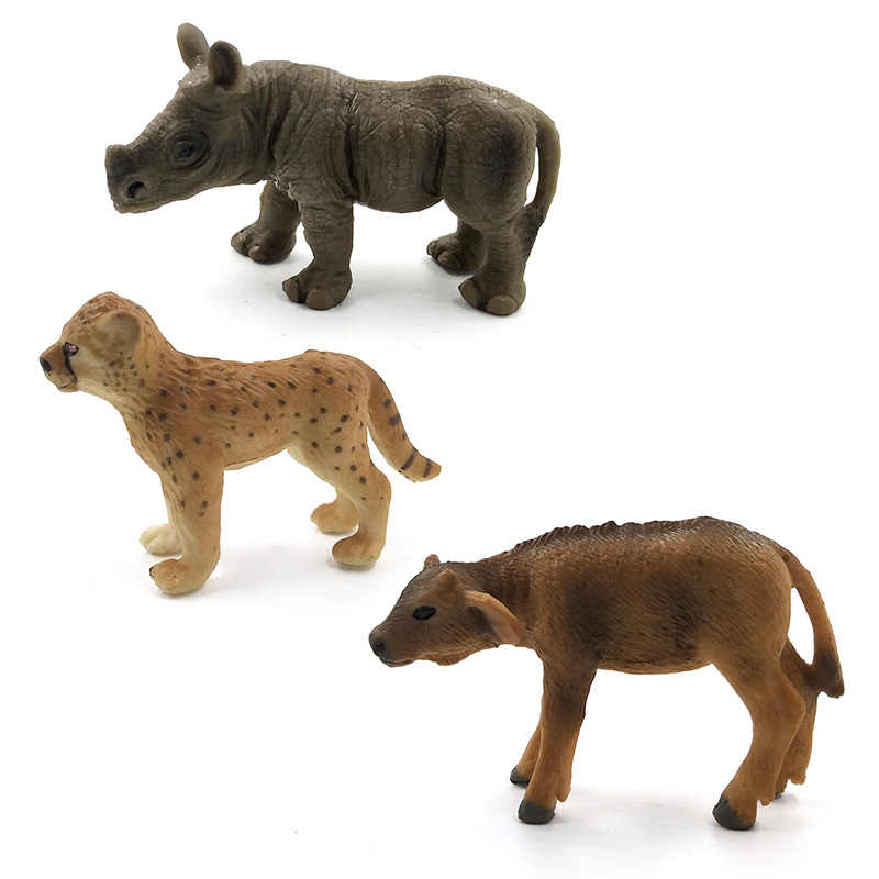 Simulação Bebê Chimpanzé Elefante Rato Porco Hipopótamo urso Polar Rinoceronte vaca gado leopardo Chinchila animais toy figuras modelo