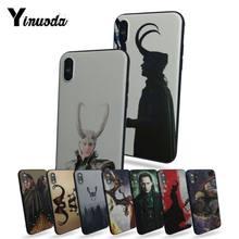 Yinuoda funda para iphone 8 plus caso loki thor coque caso do telefone para o iphone 5 5S 5c se x xs xr xsmax 6 7 8 mais capa móvel(China)