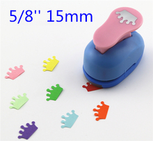 """free ship crown paper punch 15mm 5/8"""" shapes craft punch diy puncher paper cutter scrapbooking punches scrapbook S29875"""