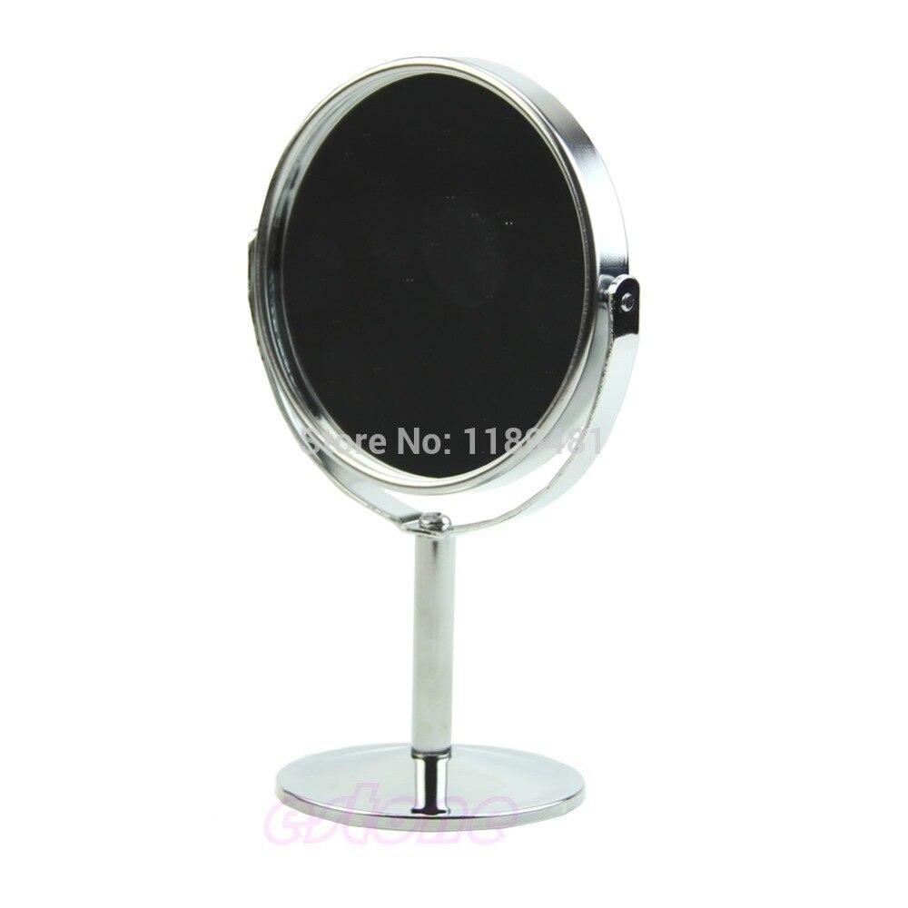 U119 Frauen Mini Rund Make-up Kosmetische Dual 2 Seitige Normal Vergrößerungs Stand Spiegel Gesundheit Effektiv StäRken Schminkspiegel