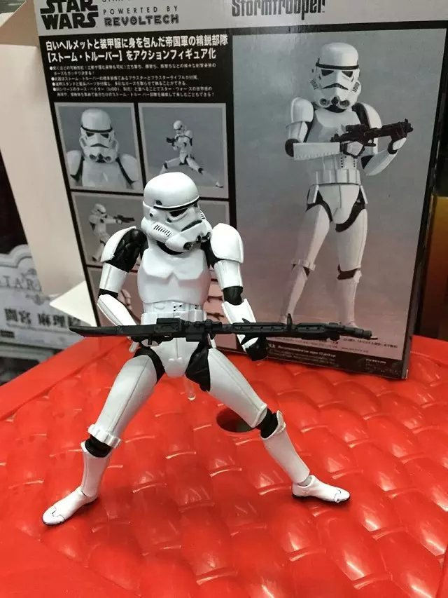 Movies Star Wars Black Knight Darth Vader Stormtrooper Cartoon PVC Action Figures Collection Toy Office Desk Decoration IN Box