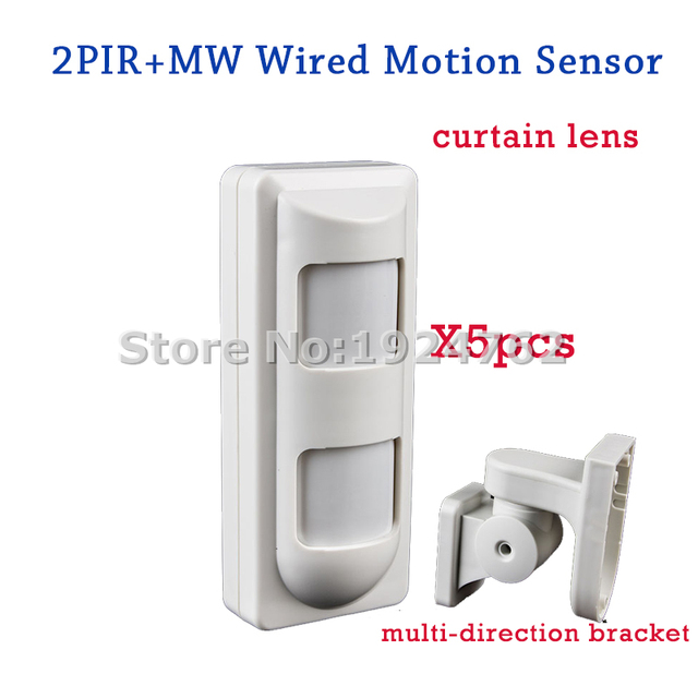 5pcs  Lot Dhl Shipping Wired Outdoor Anti Masking Curtain Pir Motion Sensor For Wired Home Alarm