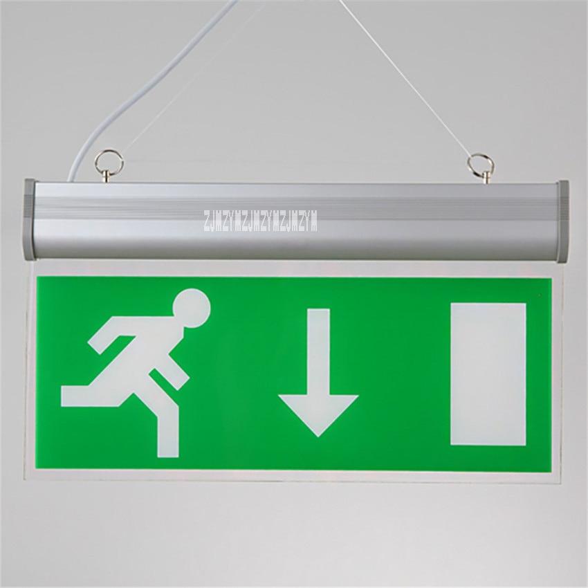 Professional Lighting Lights & Lighting Forceful 10pcs/lot Zc-dp Safety Exit Evacuation Indicator Lamp Acrylic Tag Indicator Light Fire Emergency Light 110v/220v 3w 50-300cd/m2