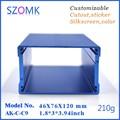 1 шт. коробка алюминиевый корпус 46*76*120 мм szomk Синий алюминиевый корпус box усилитель корпус электроники