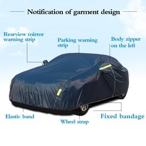 Image 2 - Универсальные чехлы для автомобиля снежная пыль Защита от солнца УФ тени темно синий Размер 9 размеров авто уличная Защитная крышка для автомобиля