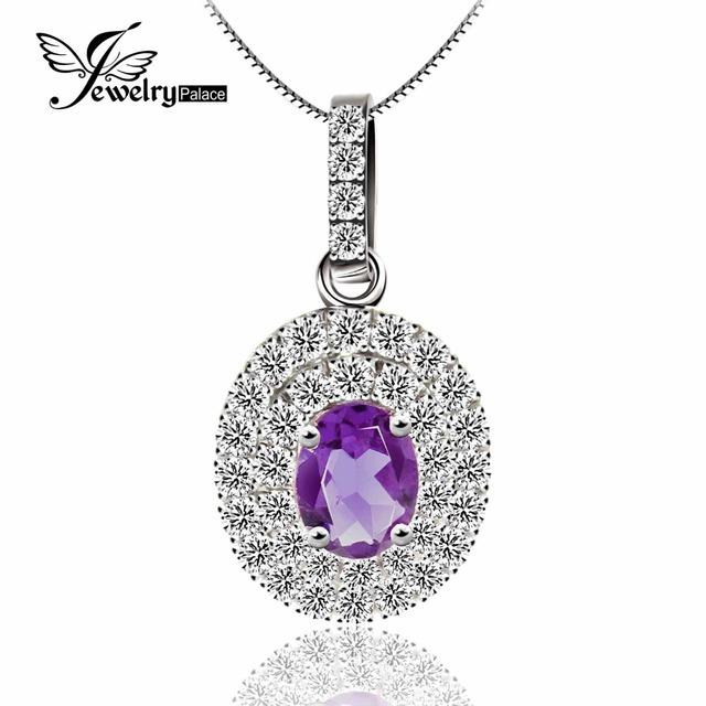 Natural Ametista Gemstone Pingente 925 Prata Excelente Dazzling Noivado/Casamento Anel Charme Jóias Vintage