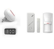 Wolf-Guard Wireless DIY Home Security Alarm Burglar System Indoor Flashing LED Siren PIR Motion Detector Door Window Sensor