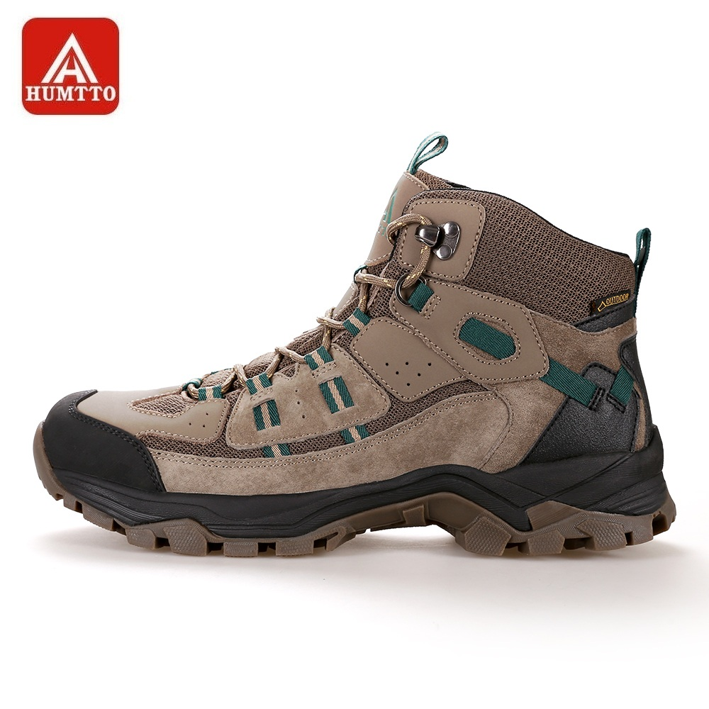 HUMTTO Men Hiking Shoes Lace-up High Cut Sneakers Women Winter Outdoor Tourism Trekking Climbing Shoes Tactical Boots